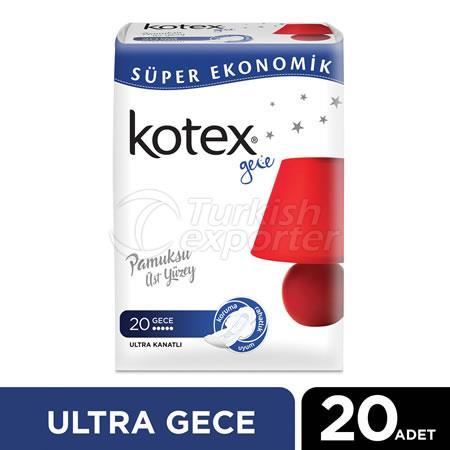 KOTEX ULTRA QUADRO NOCHE (20 piezas)