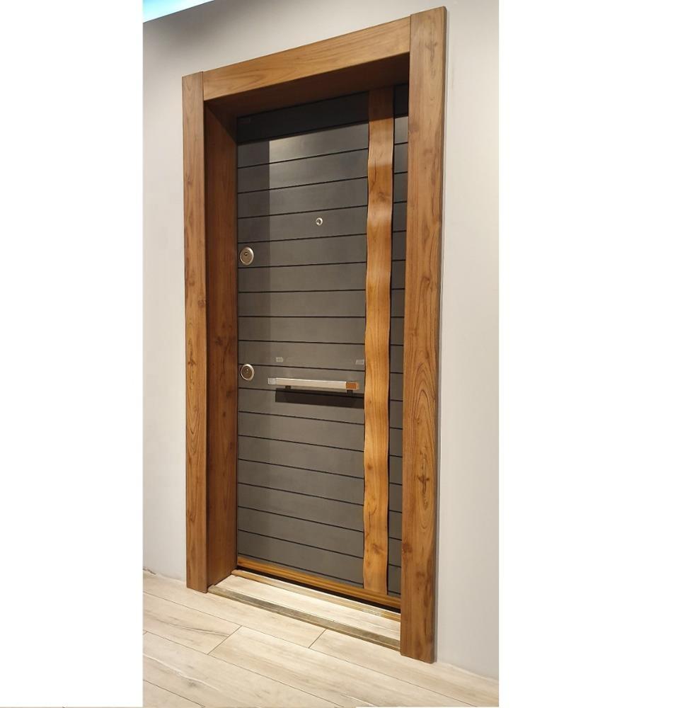 Luxury design high quality low price single exterior security steel door
