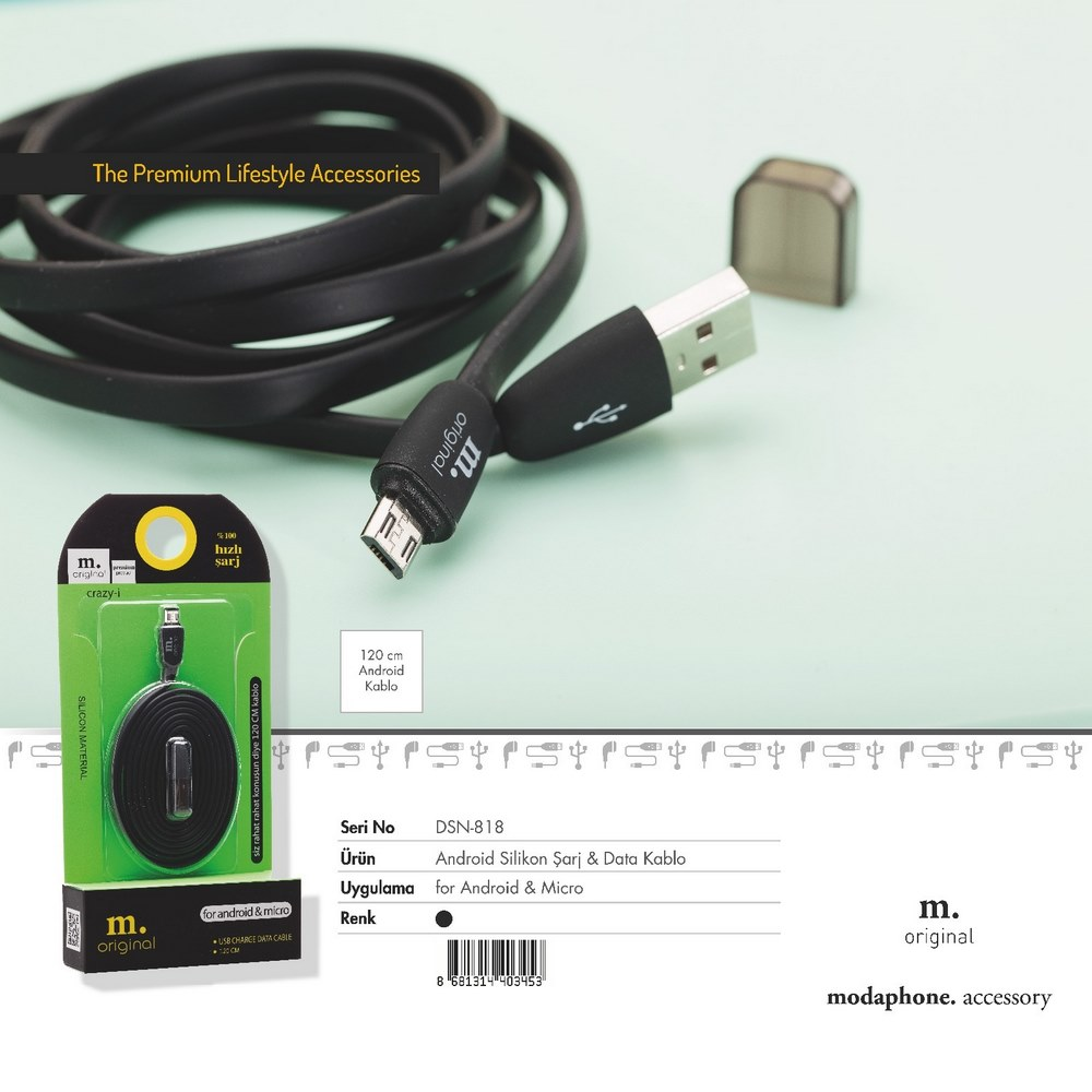 Dsn 818 Silicon Charger And Data Cable
