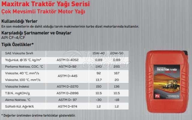 Maxitrak Tractor Oil Series