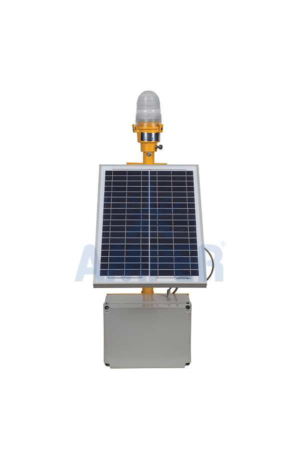 WARNING LIGHT WITH SOLAR PANEL