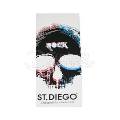 Etiqueta do cartão do St Diego