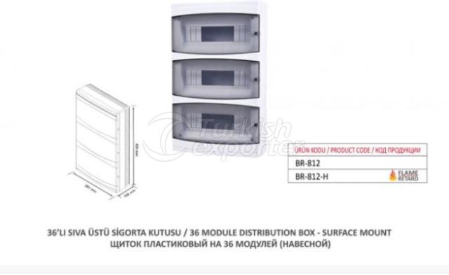 36 Module Distribution Box-Surface Mount