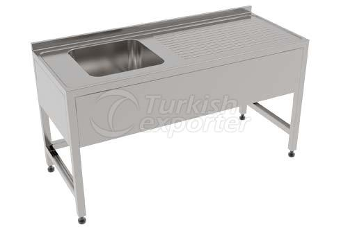 SINGLE SINK WITH DRAINING AREA