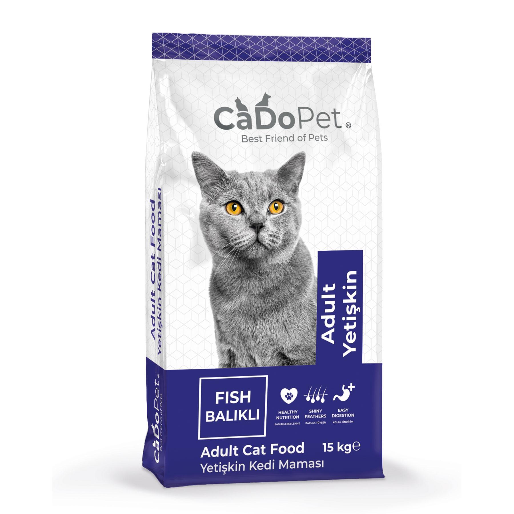 CaDoPet Adult Cat Food Fish 15 Kg