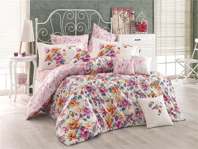 Alessia Pink- Poplin Single Bed Linen Set (8698499117457)