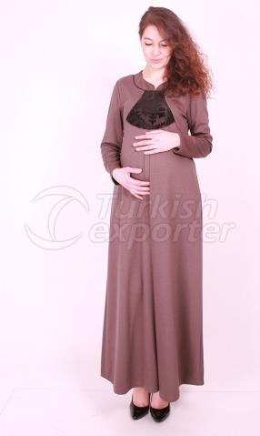 Maternity Wear a Hijab Flock Combi Dress