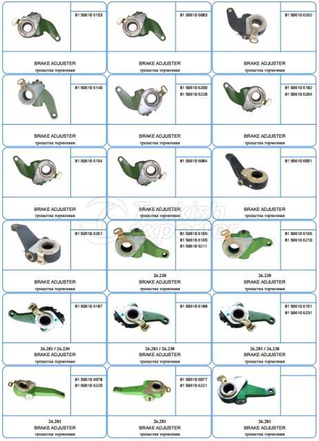Воздушный компрессор - Тормоз - Ось - Рулевое управление - Штанга