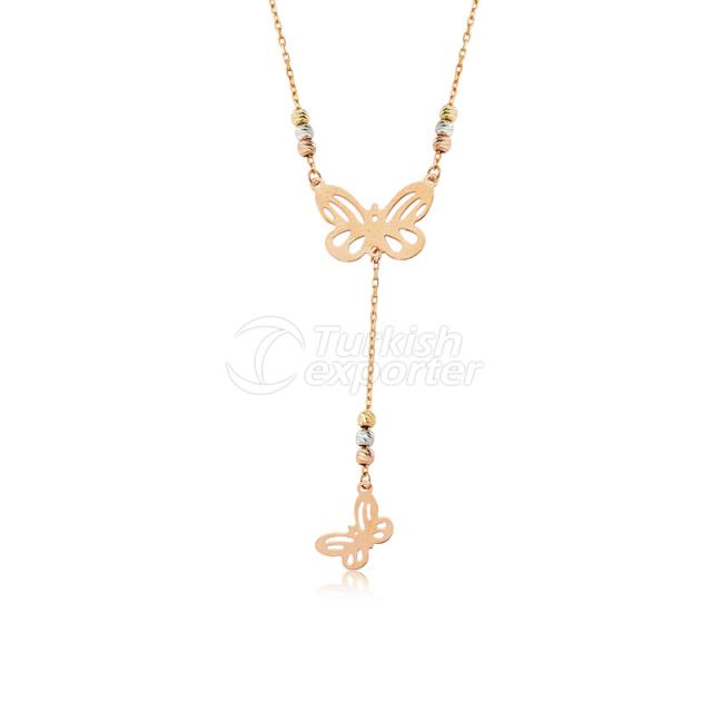 14 Carat Gold Butterfly Necklace