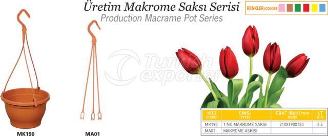 Produção Macrame Pot
