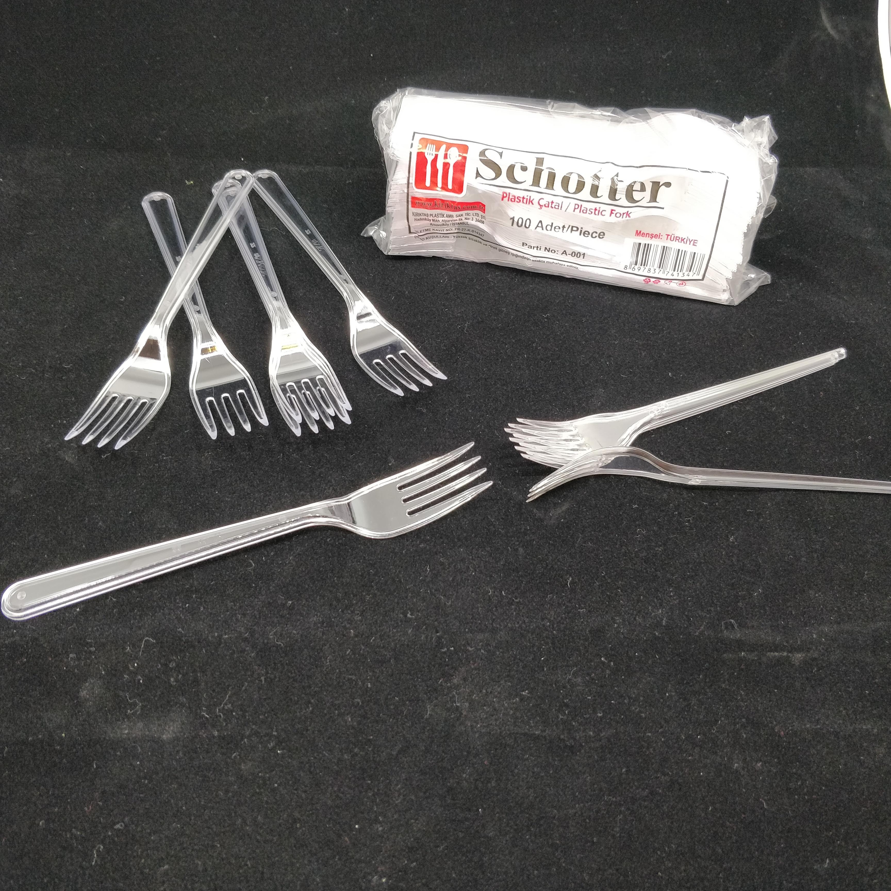 Fourchette en plastique à usage unique