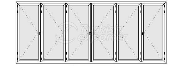 Altı Kanatlı Katlanır Kapı Profilleri