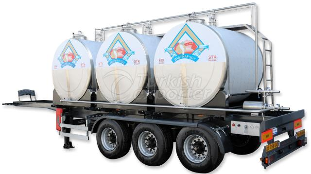 Tanque de transporte de leite a bordo