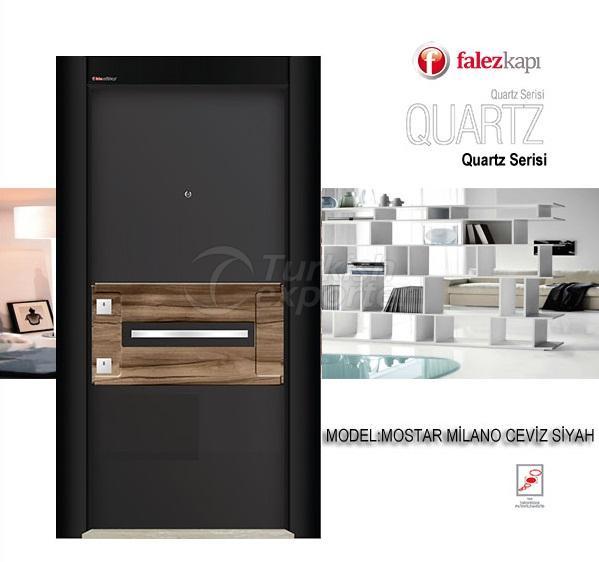 Steel Door Mostar Milano Ceviz Siyah