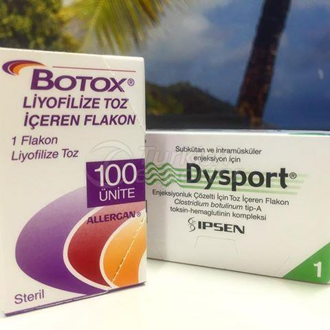 Botox 100U / Vial y Dysport 500U / Vial