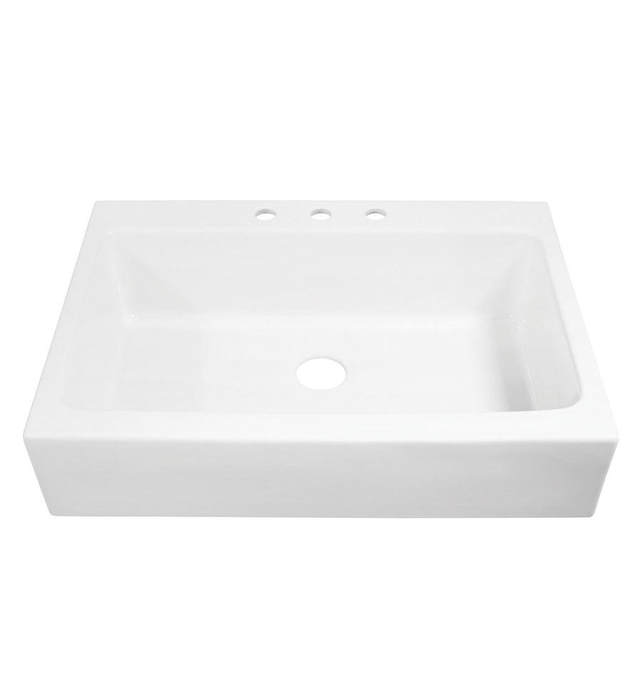 JOSEPHINE QUICKFIT DROP-IN FIRECLAY FARMHOUSE KITCHEN SINK