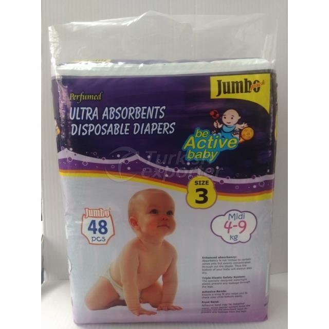 Baby Diapers Midi 48 pcs