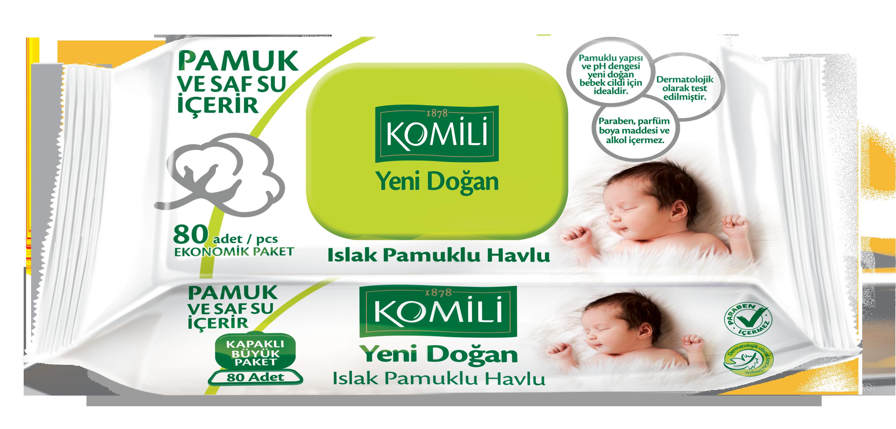 Lingettes humides Komili New Born