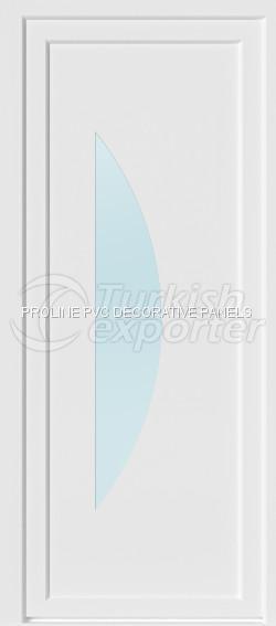 Painéis planos de portas de PVC 10004