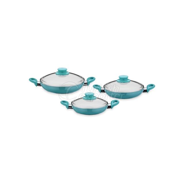 6 peças de cerâmica Eggpan Set