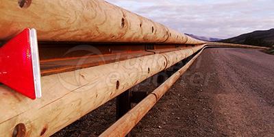 Wooden Road Railings  - Brixia