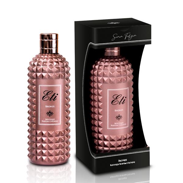 Boutique Perfume Cologne Bronze Frasco de vidro 300 ml - caixa