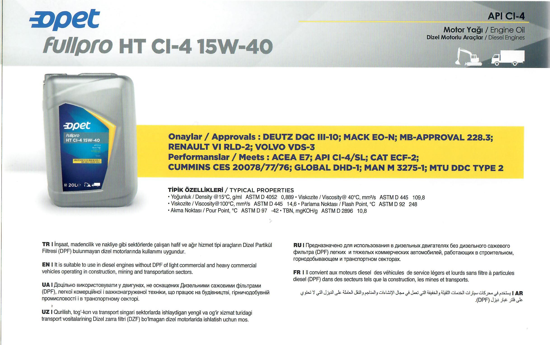 FULLPRO HT CI-4 15W-40