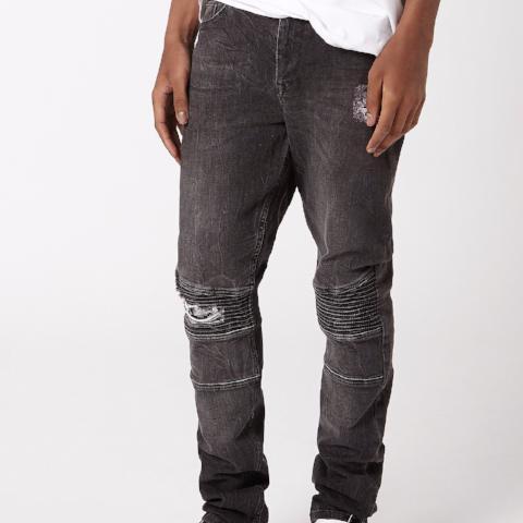 Biker Spray on Skinny Jeans – Black