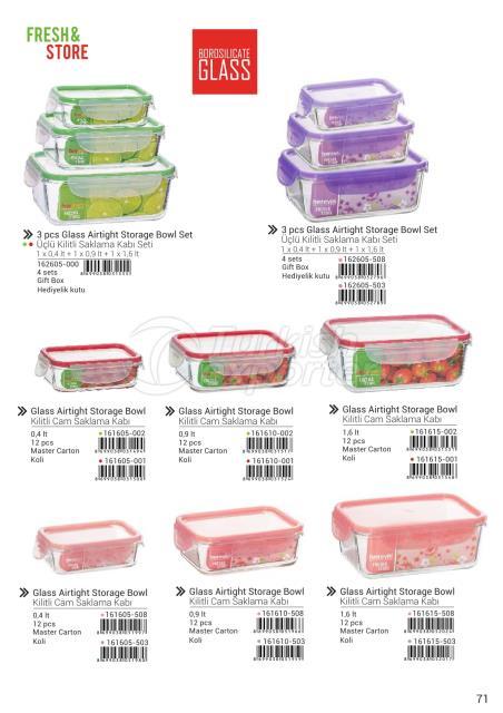 Glass Airtight Storage Bowl