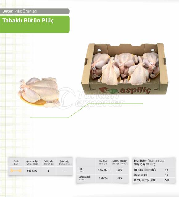 Whole Chicken Packaged in Tray