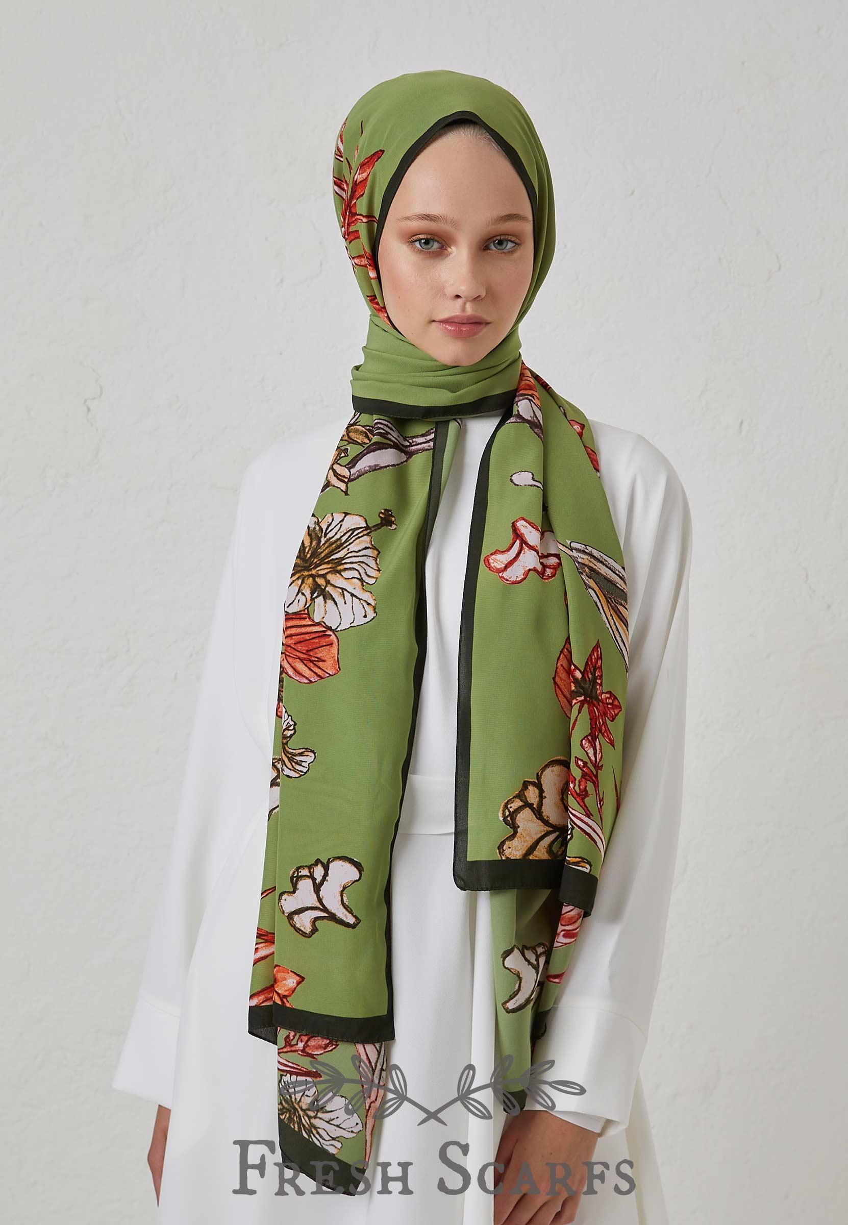 noa shawl light green