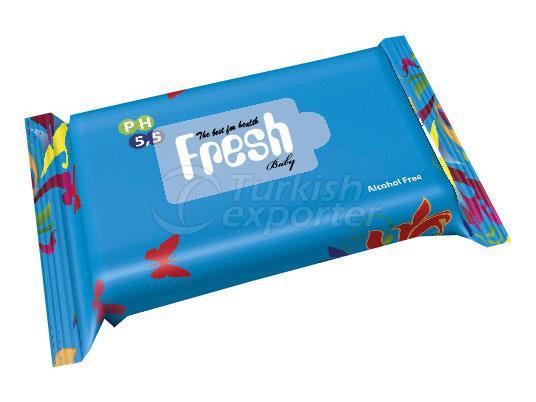 FRESH BABY POCKET WIPES BLUE