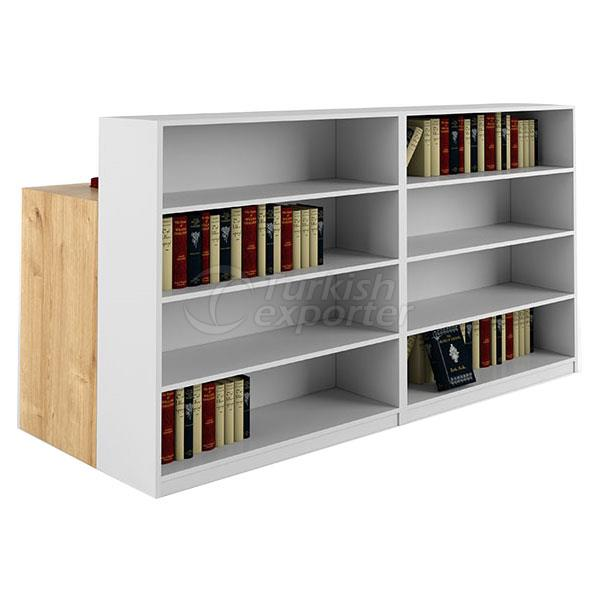 FRAME TABLE WITH BOOKCASE