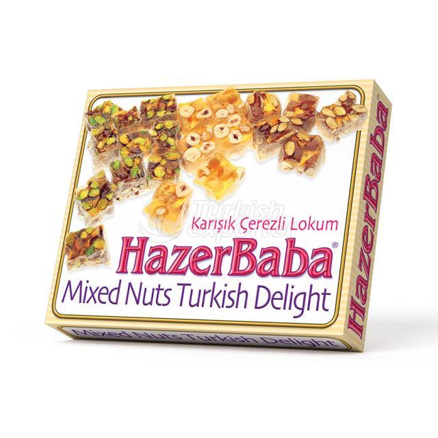 Pistachio, Almond, Hazelnut Turkish Delight