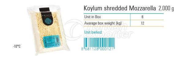 Koylum Shredded Mozzarella 2000g