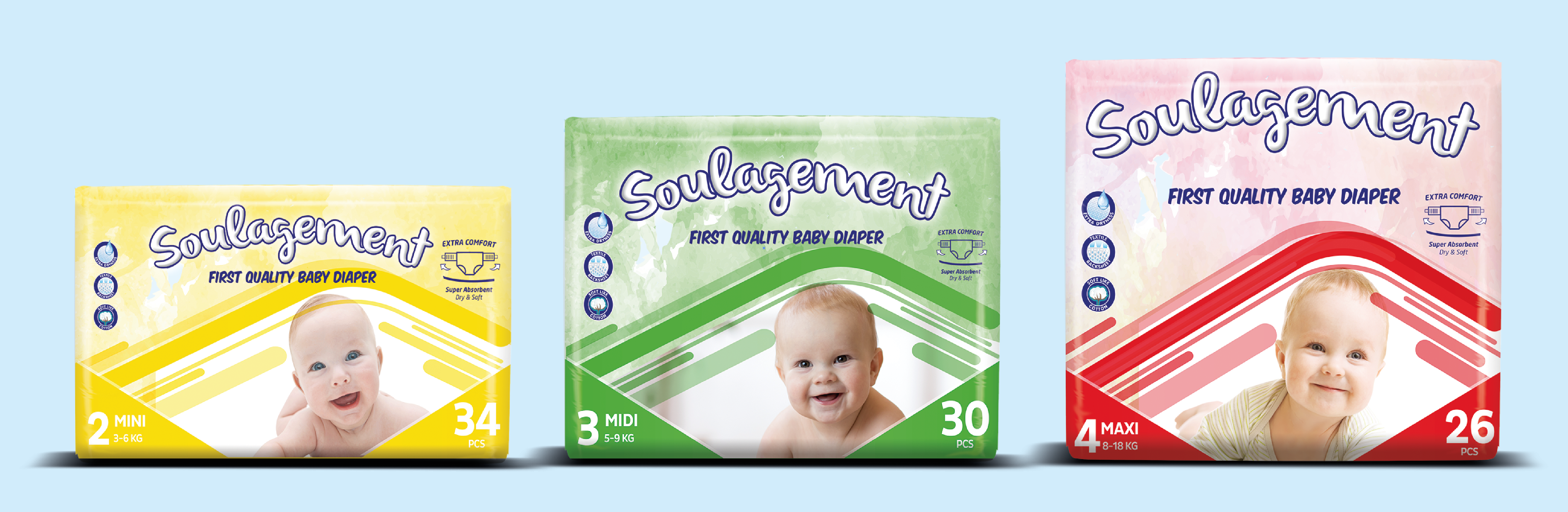 Soulagement Baby Diaper