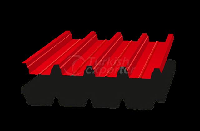 Panneau de toiture ondulé composite 60-860