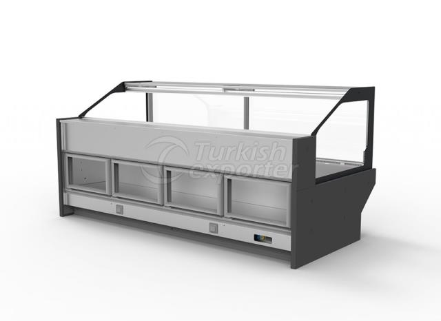 Refrigerated Serve-Over Counter With Back Storage KANGAROO
