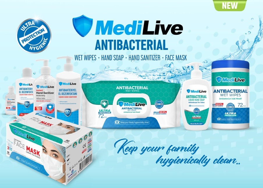MEDILIVE ANTIBACTERIAL PRODUCTS, MEDICAL MASK