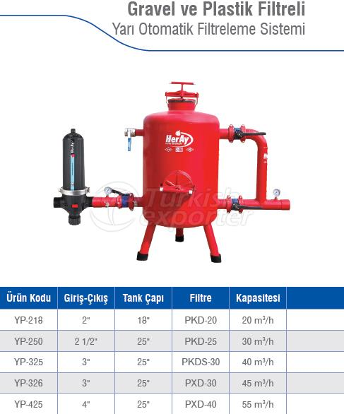 Gravel Filtered Semi Automatic Filtration Systems