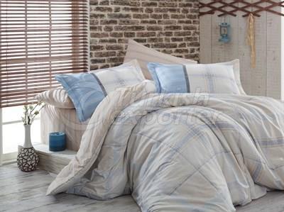 Carmela Beige -Poplin Single Bed Linen Set (8698499108875)