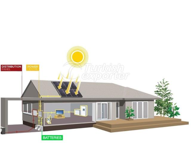 نظام الطاقة الشمسية المنزلية - نظام الشبكة
