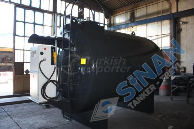 Statironary fuel tanker
