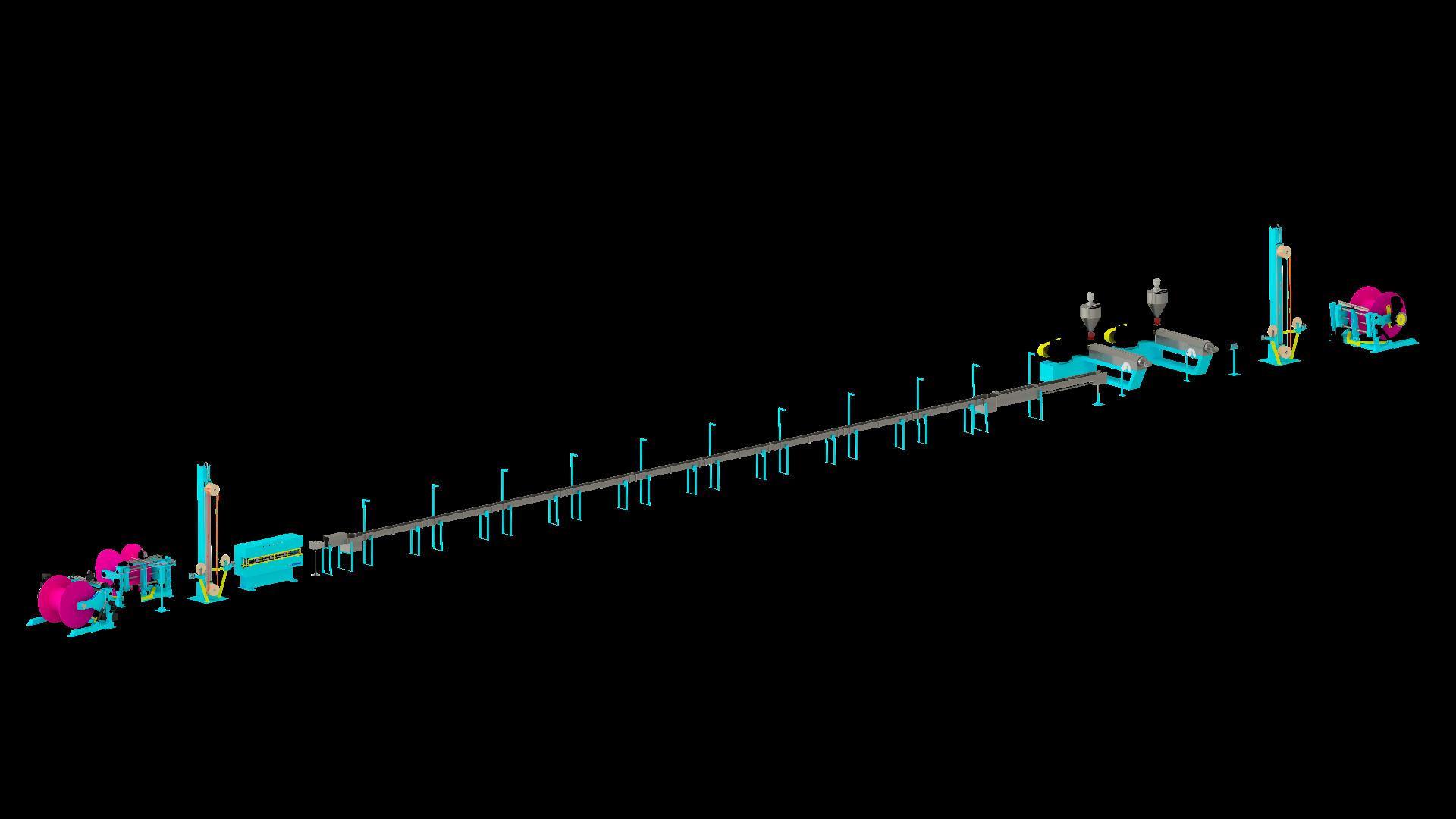 TANDEM EXTRUSION LINE