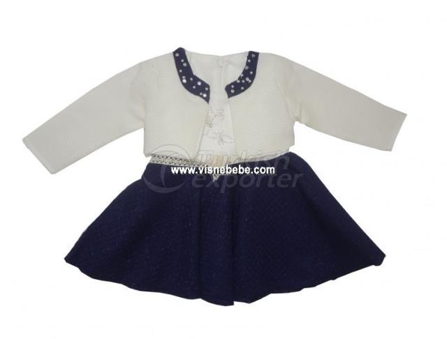 Bolero Jacquard Robe de petite fille