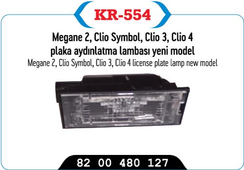 MEGANE 2, CLIO SYMBOL, CLIO 3, CLIO 4, PLAKA AYDINLATMA LAMBASI