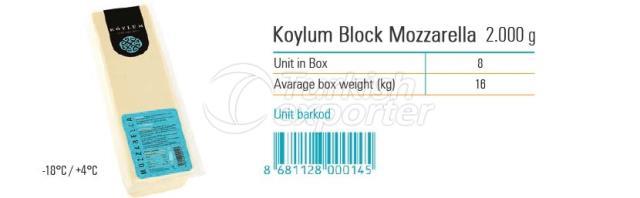 Koylum Block Mozzarella 2000g
