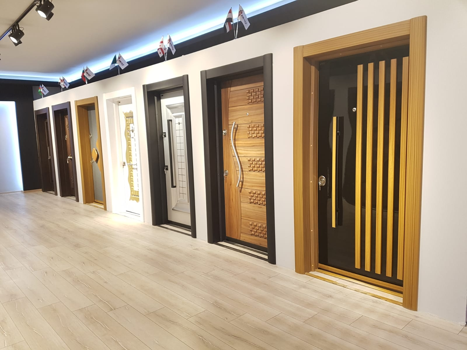 High Quaily Fire Rated Door-with panic bar and wood patterned paint-Fire Exit Door