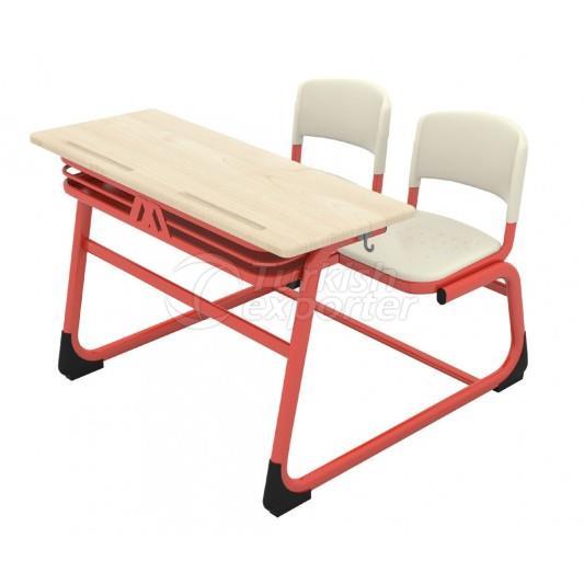 Double Combo School Desk