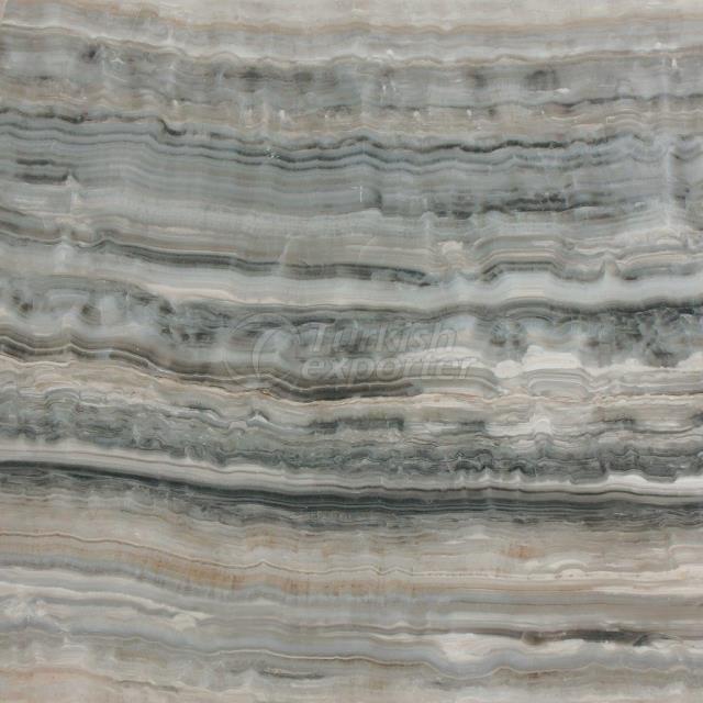 Blue Onyx-Vein Cut Marble